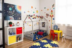 Bed house is an amazing nursery bed for sleep and play. This adorable house bed will make transitioning from a newborn bed or crib bed to a toddler bed smoothly. Floor bed is designed following Maria Montessori toy principles of independence – building, it saves you a lot of space