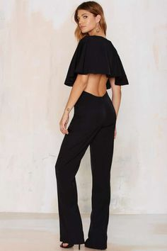 The Jetset Diaries Bring It Back Plunging Jumpsuit | Shop Clothes at Nasty Gal!