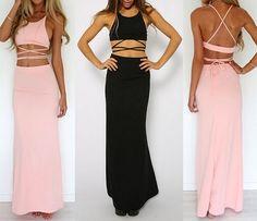 Sexy sleeveless two-piece dress WE92801PO