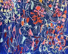 "Lapis Lazuli - original 8"" x 10"" painting on canvas  Sarah Giannobile"