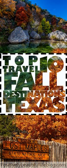 10 places to visit in Texas in the fall - Destination vacances été 2019 Texas Vacations, Vacation Places, Vacation Destinations, Vacation Spots, Cool Places To Visit, Places To Go, Ludington State Park, Texas Parks, Us Road Trip