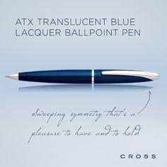 ATX Translucent Blue Lacquer Ballpoint Pen