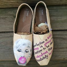 7348a0c42f5 Marilyn Monroe Custom Toms Shoes by IntellexualDesign on Etsy  marilynmonroe  Custom Converse