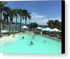 Pool Canvas Print featuring the photograph Fun At Movenpick Mactan Island by Ann Yamagishi
