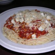Fotografie receptu: Omáčka na špagety z mletého masa