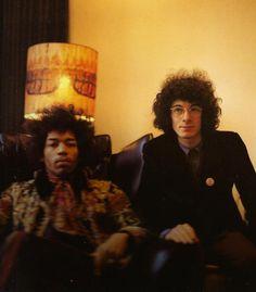 theswinginsixties:    Jimi Hendrix and Noel Redding, New York, 1969. Photo by Linda McCartney.