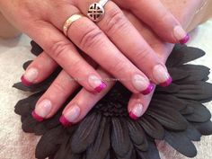 Pictures of Glitter Nails | acrylic nails with pink glitter tips nail technician nicola senior ...