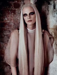 Kristen McMenamy byLuigi Murenu  Daniele + Iango for Vogue Germany, April 2013