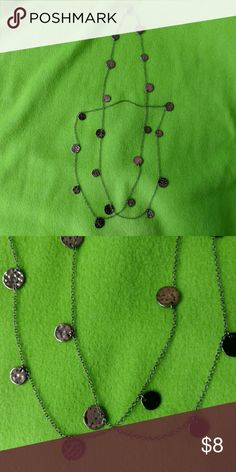 """Long Daisy Fuentes Necklace Like new copper disc necklace. 48"""" long. Looks great worn long or doubled up. Shows no signs of wear. Daisy Fuentes Jewelry Necklaces"""