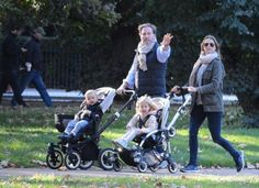 Princess Madeleine, Christopher O'Neill, Princess Leonore and Prince Nicolas in London