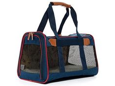 Sherpa Element Standard cat Carrier Dog Cat Navy w/Red Trim Medium Airline Approved >>> You can get more details here : Cat Cages, Carrier and Strollers
