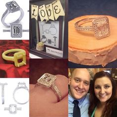 We were so happy to get to be a very special part of this couple's engagement - from idea to reality.  Congrats Austin & Britni!  #engaged #engagementring #custom #customdesign #sketchtoreality #ReisNichols #love #popthequestion