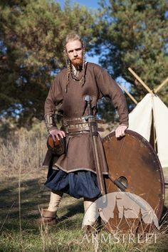 """Linen Viking Tunic """"Eric the Shieldman"""""""