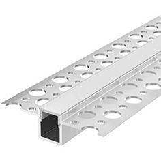 2m Aluprofil BARTA (BT) 2 Meter Aluminium Trockenbau-Profil-Leiste eloxiert für LED Streifen - Set inkl Abdeckung-Schiene milchig-weiß (opal) und Endkappen