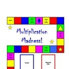 This multiplication board game includes a directions page, a game board, 4 pages of cards, and an answer sheet: 7 pages. Students will get plenty of practice with 2 x 2 digits, 2 x 3 digits and multiplication word problems while having fun at the same time. $