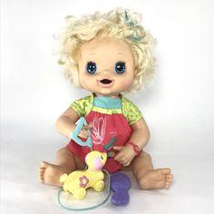 "Hasbro My BABY ALIVE 18"" DOLL 2010 Interactive Blonde Talks, Poops, Pees Works  | eBay"
