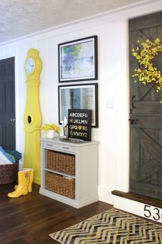 love the door and the palatte- except yellow too bright on clock