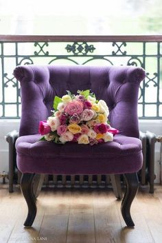 I love this chair, not just because it's purple, but because it's just classically cool too.