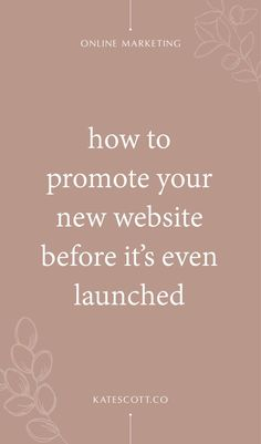 Want to build buzz before your big website launch? This pre-launch website marketing strategy will help you build momentum and grow your business faster out of the gate! Business Launch, Business Marketing, Online Marketing, Business Tips, Online Business, Social Media Plattformen, Social Media Marketing, Website Design Inspiration, Business Inspiration