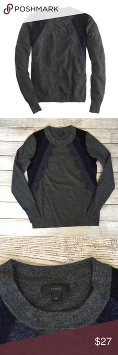 """J. Crew Colorblock Lace Sweater See last photo for details. 23""""L. Gently worn, slight piling - otherwise great condition.🚫NO TRADES/NO MODELING🚫✅BUNDLE TO SAVE✅ J. Crew Sweaters Crew & Scoop Necks"""