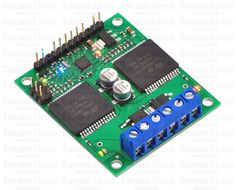 Pololu Qik 2s12v10 Dual Serial Motor Controller This powerful motor controller allows variable speed and direction control of two large, brushed DC motors using a simple serial interface and provides several advanced features,