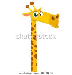Vector illustration of african savanna giraffe smiling. Giraffe Illustration, Funny Giraffe, Funny Cartoons, African, Symbols, Cute Cartoon, Glyphs, Icons, Funny Comics