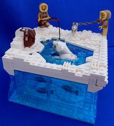 lego cute moc - eskimos fishing