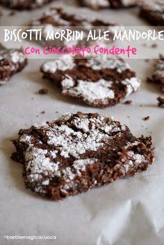 Biscotti morbidi alle mandorle con cioccolato fondente | Barbie magica cuoca - blog di cucina