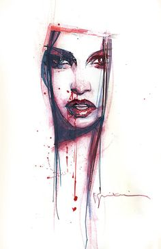 She is a beauty covered in blood and tears.