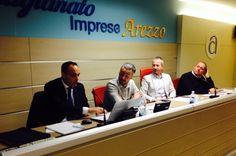 I relatori Massimo Biribicchi e Simone Riceputi (BRT Consulting) insieme a Maurizio Baldi e Luca Baglioni (Presidenza Consulta Provinciale Categorie)
