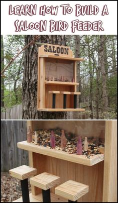 Do you want to make new feathered friends in your beautiful yard? Then invite them by making a saloon bird feeder! :)