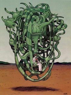 """tumbltapr — From Moebius's""""La Faune de Mars.""""..."""