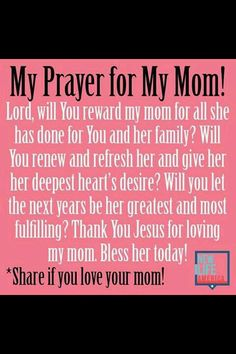 Prayer for my mother❤️