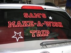 Uppercase Living decorative vinyl can help make it a special trip or advertise your business! UL vinyl holds up great in all weather conditions, car washes and wiper use!  Order online: Https://brookebeney.uppercaseliving.net LIKE us on facebook www.facebook.com/brookesuppercaseliving