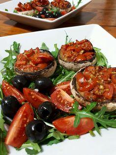 Pieczarki faszerowane pomidorami Bruschetta, Ethnic Recipes, Food, Meal, Essen