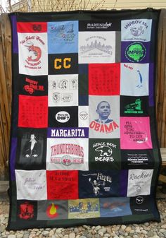 Tshirt blanket: pick 3-4 shapes & maybe all shirts fit those molds