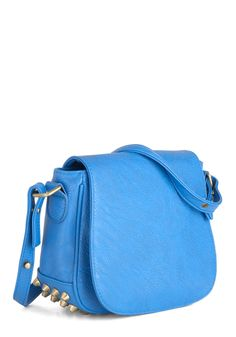 Made for Blue Bag - Blue, Silver, Solid, Studs, Casual, Urban