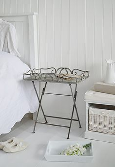 butler tray white folding bedside table. bedside tables, decor and