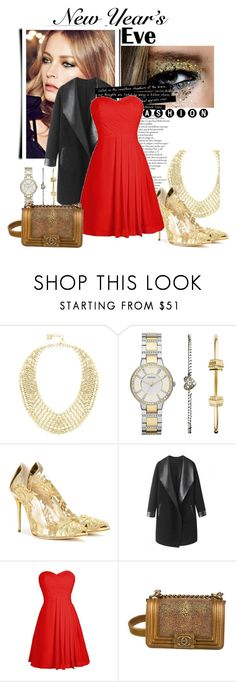 """""""New Style, Same You"""" by alwaysroyal on Polyvore featuring BCBGMAXAZRIA, FOSSIL, Oscar de la Renta, Columbia, Chanel, party, contestentry, NewYearsEve and nyestyle"""
