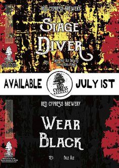 Red Cypress - Stage Diver / Wear  Black http://www.beer-pedia.com/index.php/news/19-global/4683-red-cypress-stage-diver-wear-black  #beerpedia #redcypress #ipa #paleale #citra #mosaic #beerblog #beernews #newrelease #newlabel #craftbeer #μπύρα #beer #bier #biere #birra #cerveza #pivo #alus
