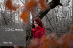 Yooniq images - Portrait of woman in autumn forest