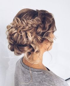 Pretty Braided Bun - Stunning Wedding Hair Ideas to Steal For Your Big Day - Photos