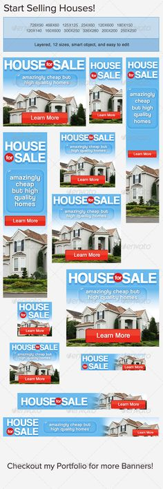 Real Estate Apartment Banner Ad Web advertisement, Banners and - For Sale Ad Template