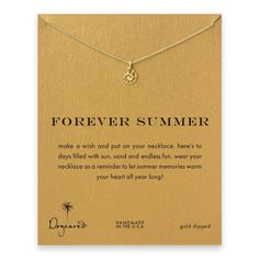 forever summer nautilus shell necklace, gold dipped