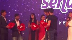Hrithik Roshan inaugurating Sendmygift.com and Throwing gift to audience