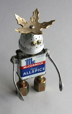 McCormick - Found Object Robot Assemblage Sculpture By Brian Marshall