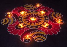 Discover beautiful diwali rangoli designs for your house. These simple rangoli designs can be made during festivals like Dussehra, Ugadi and Holi too. Best Rangoli Design, Indian Rangoli Designs, Simple Rangoli Designs Images, Rangoli Designs Latest, Rangoli Designs Flower, Latest Rangoli, Small Rangoli Design, Rangoli Patterns, Rangoli Ideas