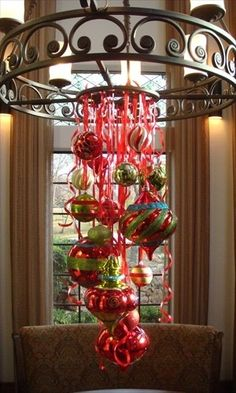 Decorating with Christmas Ornaments!