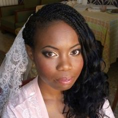 african american wedding hair and makeup rome italy