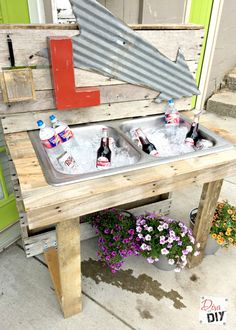 These creative outdoor DIY projects are designed to inspire you to create an outdoor entertaining space with fun decor and unique touches.